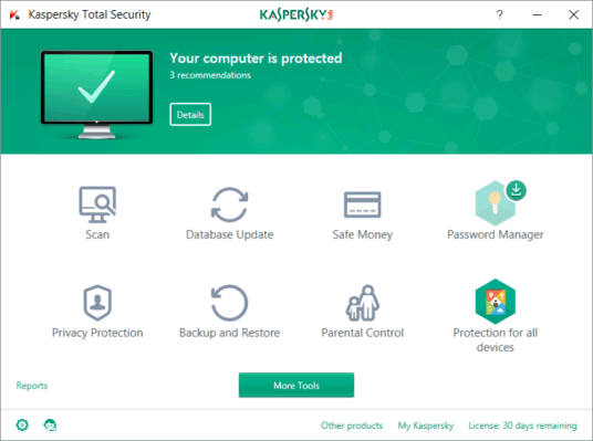 Kaspersky Total Security 2019 19.0.0.1088 Activation Key
