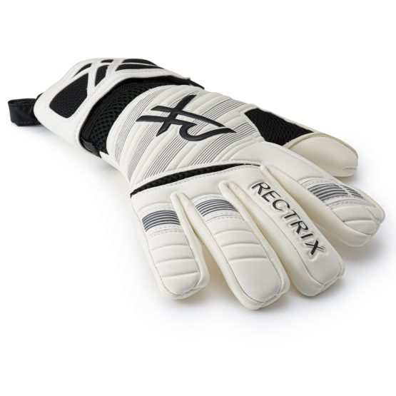 Rectrix 1.0 Goalkeeper Gloves + Free Bag (White)