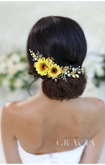 ELISAVET White Bridesmaid Bridal Hair Flower Wedding Hair