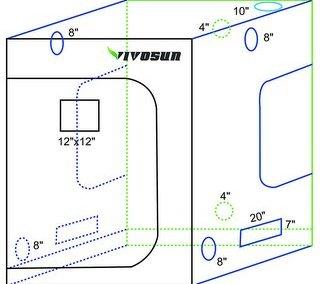 VIVOSUN Mylar Hydroponic Grow Tent