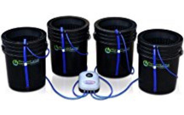Deep Water Culture (DWC) Hydroponic Bubbler Bucket Kit by PowerGrow ® Systems (4) 5 Gallon - 10 Buckets