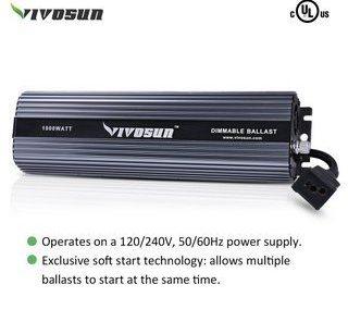 VIVOSUN Hydroponic 1000 Watt HPS MH