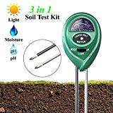 Soil pH Meter, XIYIXIFI 3 in 1 Soil Test Kit for Moisture