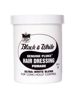 Black and White Pluko Hair Dressing Pomade