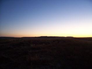 Evening on the desert