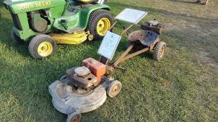 The first riding lawnmower