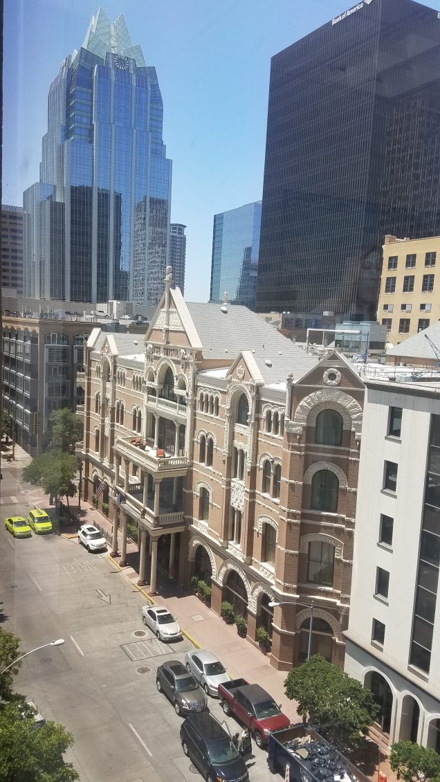 Downtown Austin from our office window.