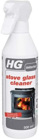 HG Stove Glass Cleaner - A foam stove window cleaner