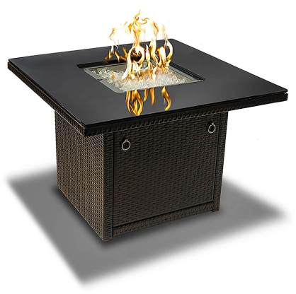 Outland Living Series 410 Brown 36-Inch Outdoor Propane Gas Fire Pit Table