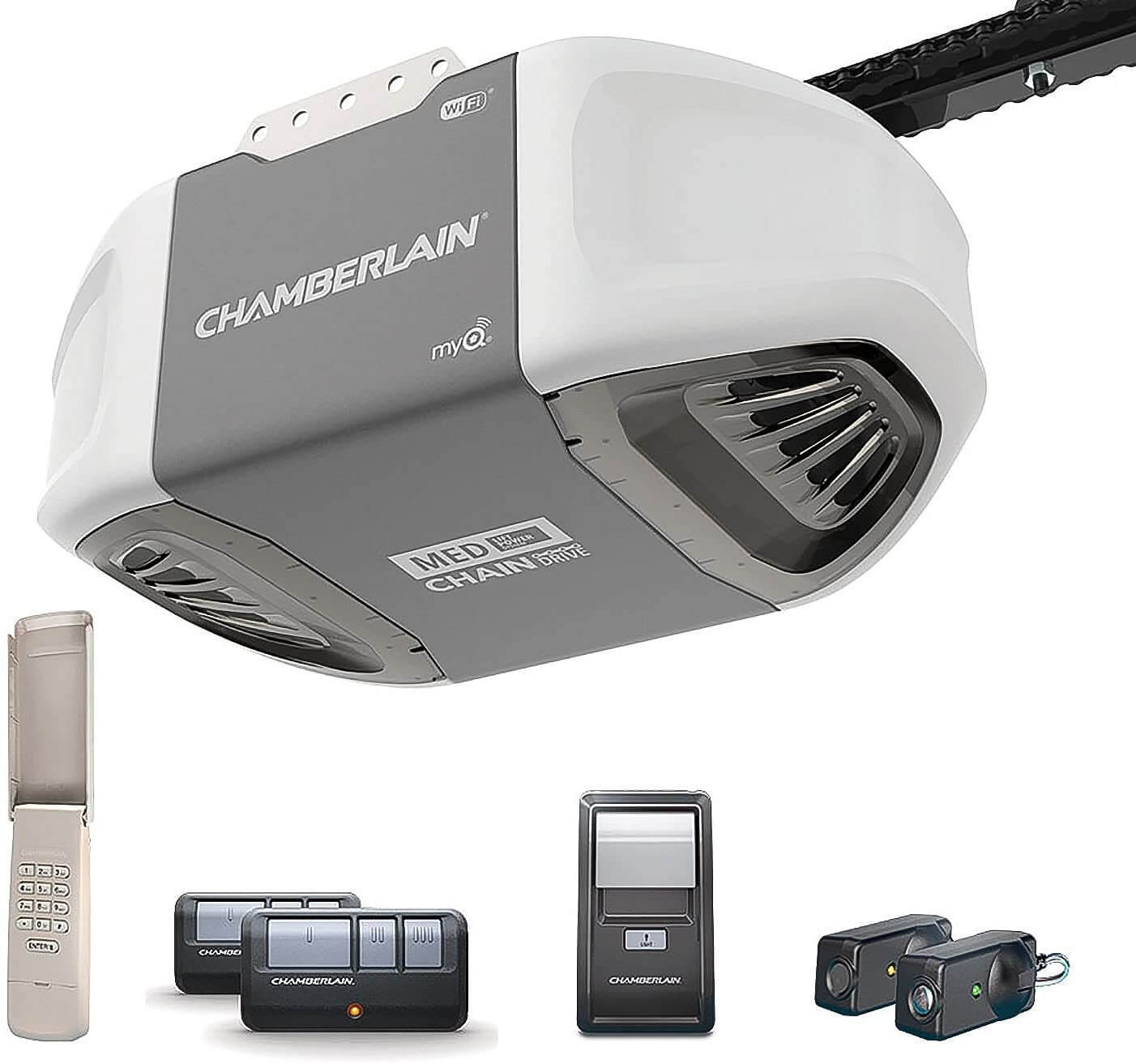 Chamberlain Group C450 Smartphone-Controlled Durable Chain Drive Garage Door Opener