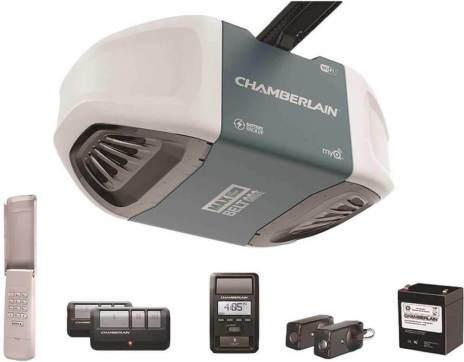 Chamberlain Group Chamberlain B970 Smartphone-Controlled Ultra-Quiet and Strong Belt Drive