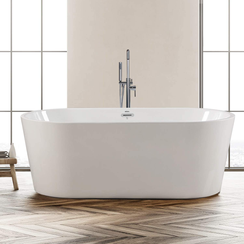 FerdY Freestanding Bathtub Classic Oval Shape Freestanding