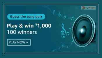 Amazon Guess The Song Quiz Answers Win Rs.1000