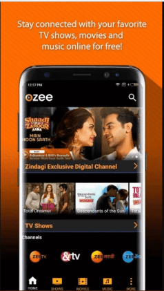 OZEE ये app Zee Entertainment Enterprises Ltd. का official android app