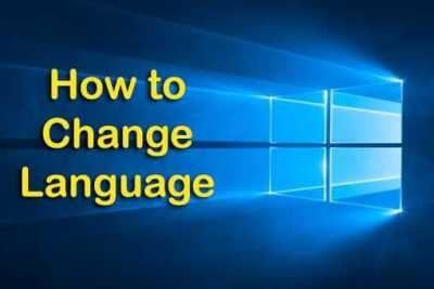 windows 10 change language