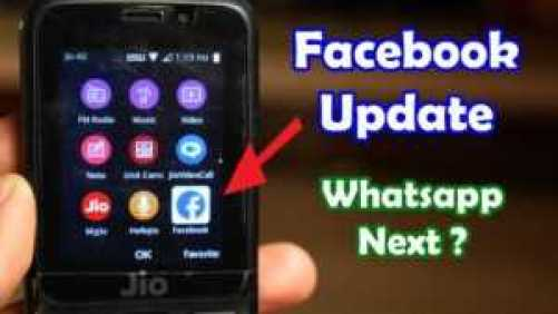 install facebook in jio phone