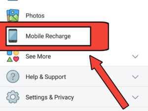 facebook se mobile recharge