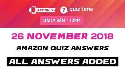Amazon Quiz 26 november