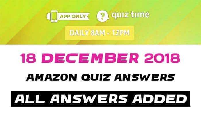 Amazon Quiz 18 december