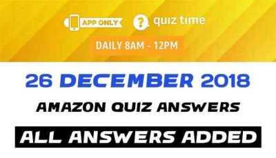 Amazon Quiz 26 december 2018