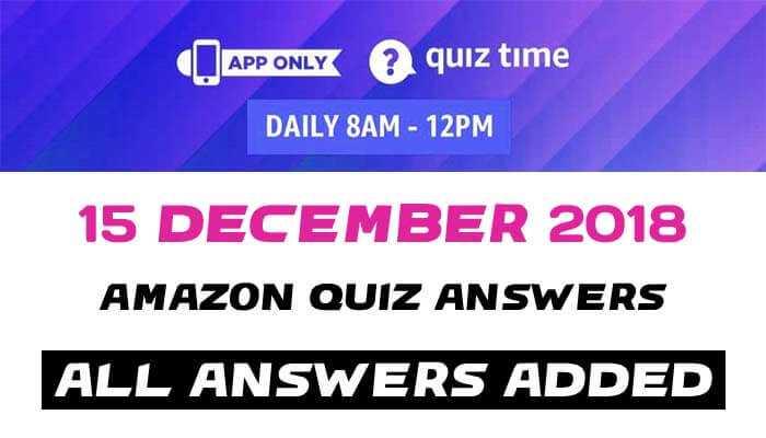 Amazon quiz 15 december