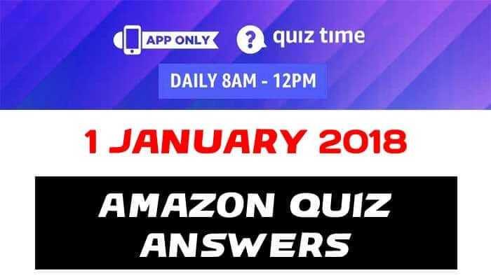 Amazon Qauiz 1 january 2019