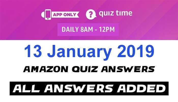 Amazon Quiz 13 January 2019 Answers - BlackBerry Key2