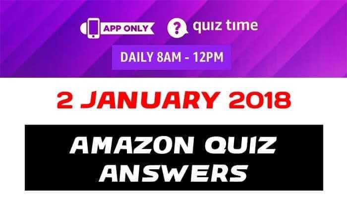 Amazon Quiz 2 january 2019