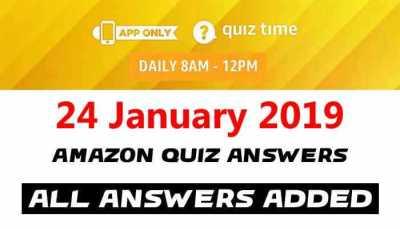 Amazon Quiz 24 January 2019