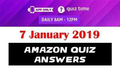 Amazon Quiz 7 January 2019