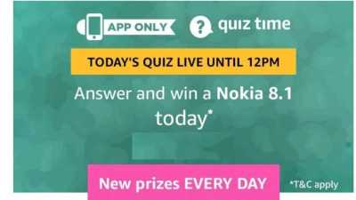 Amazon Quiz 13 February 2019, Nokia 8.1