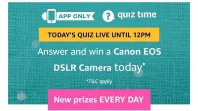 Amazon Quiz 23 February 2019 - Canon DSLR Camera