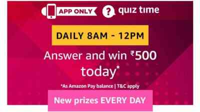 Amazon Quiz 18 March 2019 Answers - Rs.500 Pay Balance