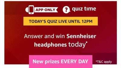 Amazon Quiz 14 March 2019 Answers - Sennheiser Headphones
