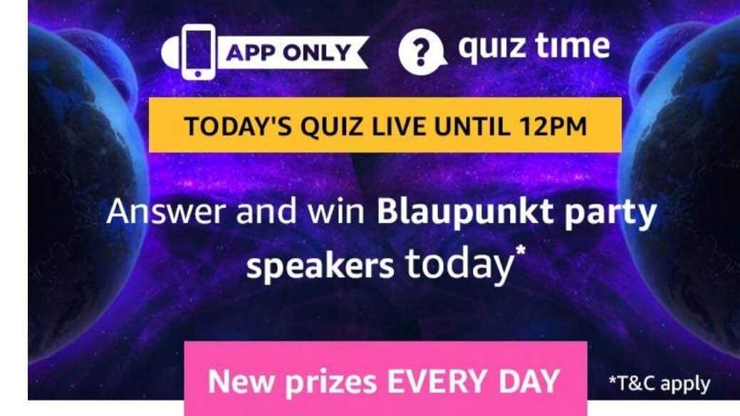 Amazon Quiz 27 April 2019 Answers - Blaupunkt Party Speaker,Amazon Quiz 11 April 2019 Answers - Blaupunkt Party Speaker