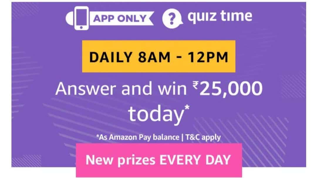 Amazon Quiz 30 May 2019