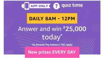 Amazon Quiz 15 April 2019 Answers - Rs 25000 Pay Balance