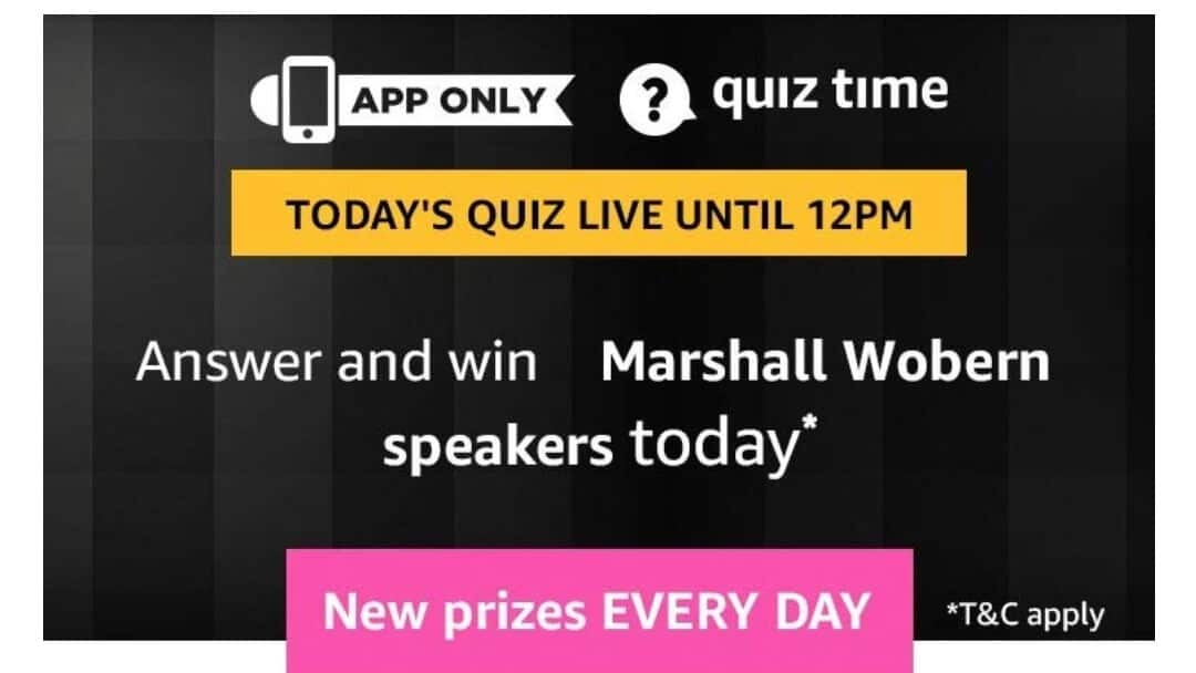 Amazon Quiz 19 April 2019 Answers -Marshall Wobern Speaker