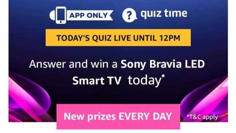 Amazon Quiz 20 April 2019 Answers - Sony Bravia LED Smart TV