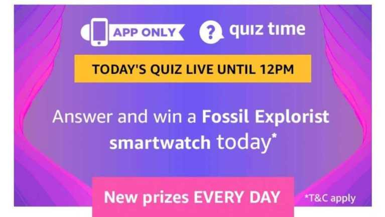 Amazon Quiz 14 June 2019