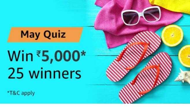 Amazon May Quiz Rs.5000 Answers Today (True Answers)