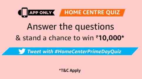 Amazon Home Center Quiz Answers - Rs.10000 Pay Balance