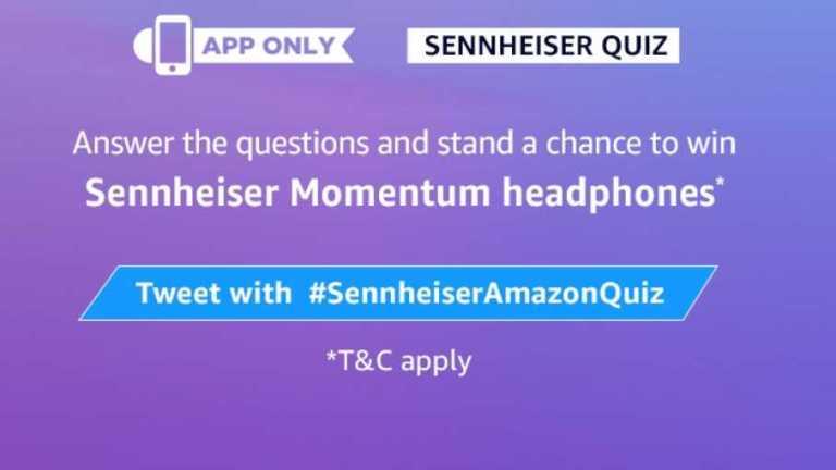 Amazon Sennhieser Quiz Answers - Bluetooth Headphone