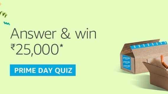 Amazon Prime Day Quiz Answers Win - 25000 Pay Balance