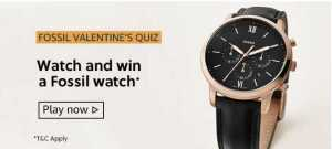 Amazon Fossil Valentines Quiz Answers Win - Fossil Watch
