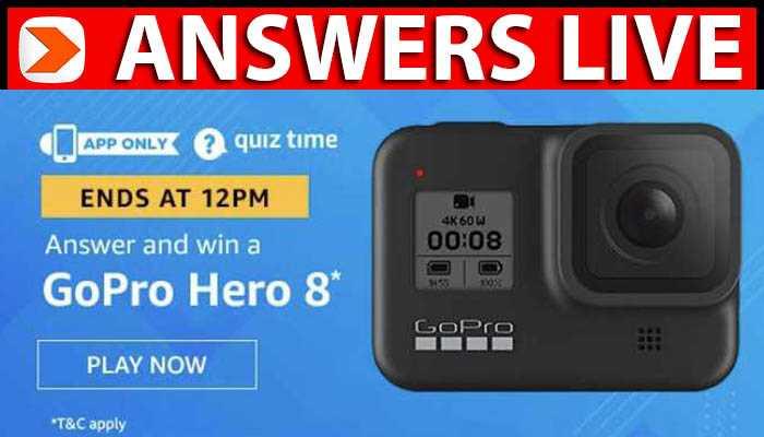 Amazon Quiz Answers 18 April 2020 go pro hero 8