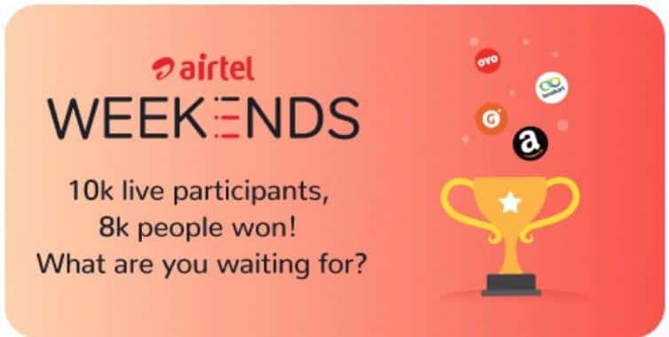 Airtel Weekend Quiz Give Five Answers and Win Fun Prizes