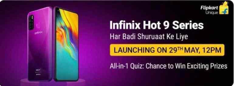 Flipkart Infinix Hot 9 Series Quiz