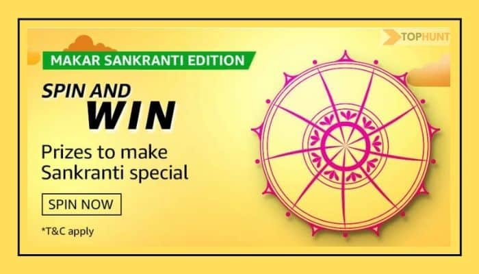 Amazon Makar Sankranti Edition Quiz Answers Spin and Win - Prizes