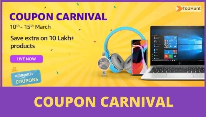 Amazon India Starts New Coupon Carnival Over 10 Lakh Products